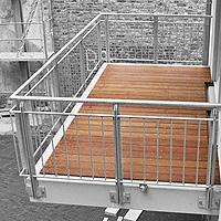 balkon holzgel nder au en kreative ideen f r. Black Bedroom Furniture Sets. Home Design Ideas